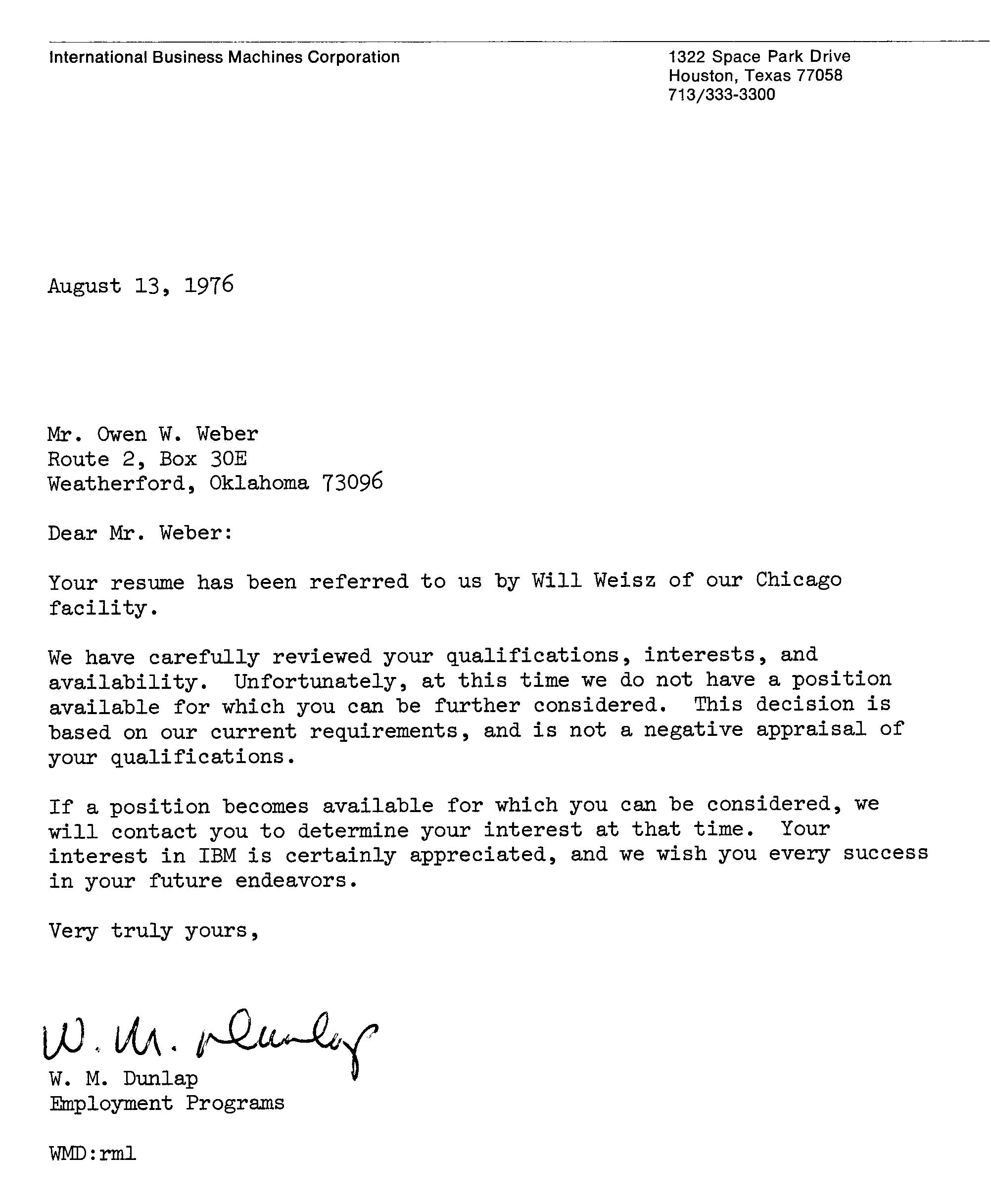 sample rejection letter 42 years as a software engineer 48224
